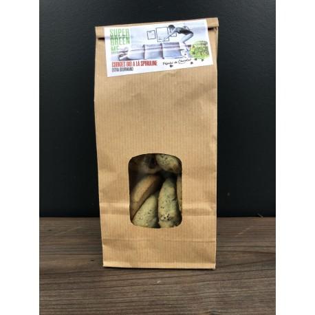Cookies Bio Spiruline & Pépites de Chocolat  - Sachet 140g